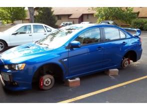 Что сделать, чтобы не украли диски с машины?