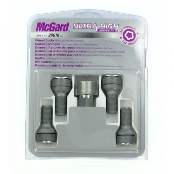 Секретки McGard 28018SL M14x1,5 сфера R13 L=26,7мм. кл.17мм.