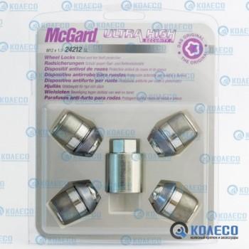 McGard 24212SL гайка M12x1,5 W-конус L=32,5мм.
