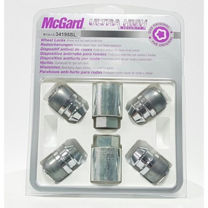 Секретки McGard 34195SL M12x1,5 конус 60° H=32,5мм. кл.21мм.